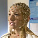 BYU student in EEG cap